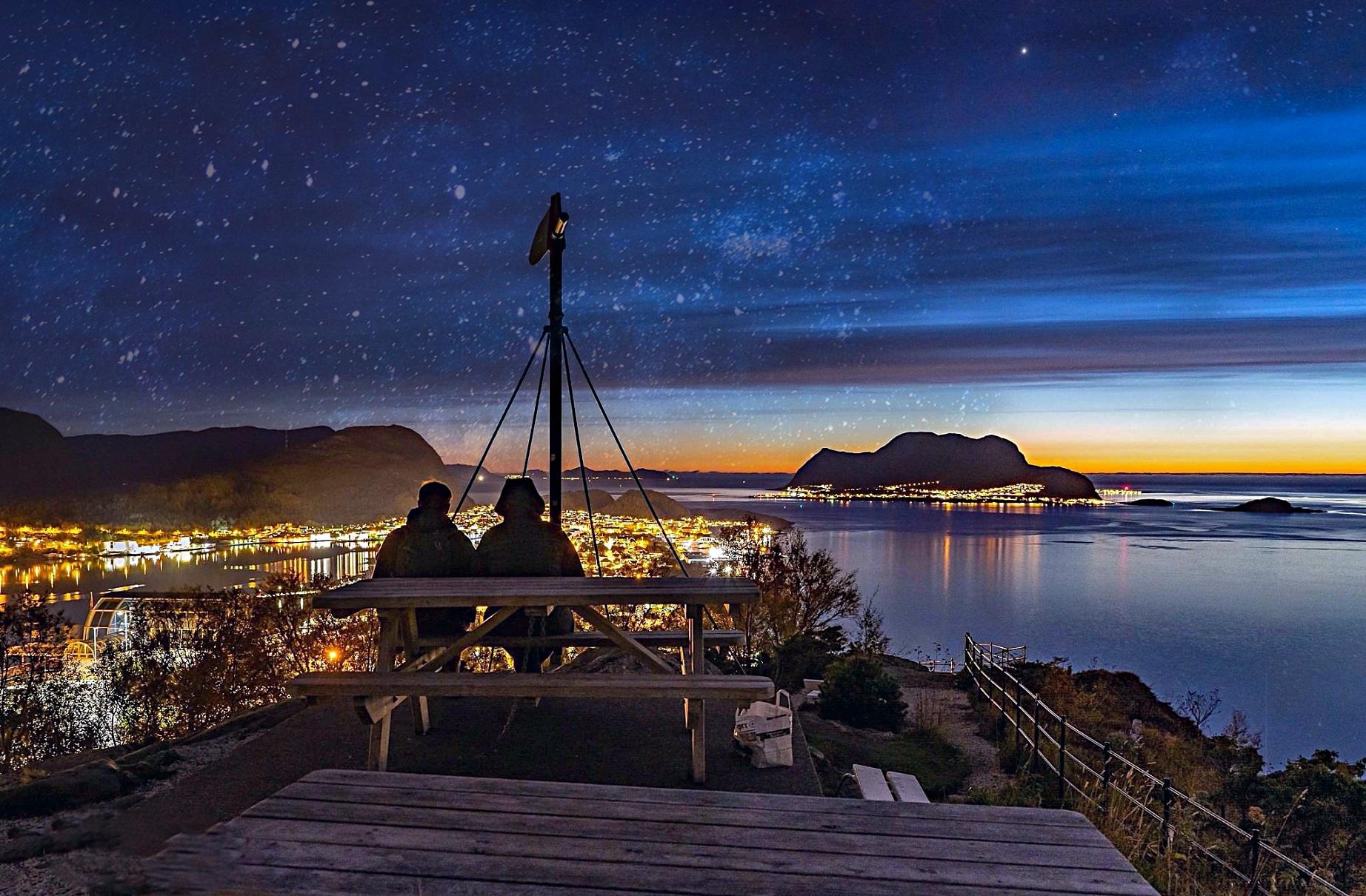 Uniktur sunset Ålesund
