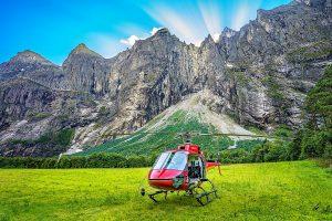 Trollveggen helikopter