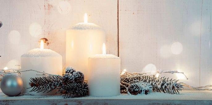 свечи как дух Рождества Uniktur