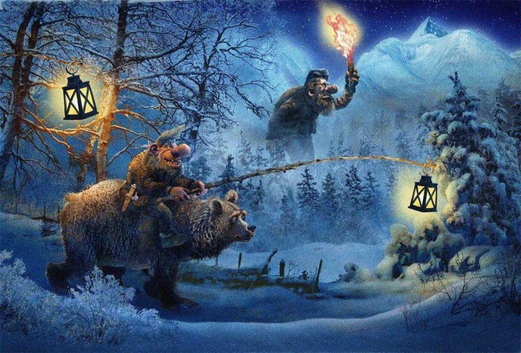 как празднуют Тролли Рождество в Норвегии