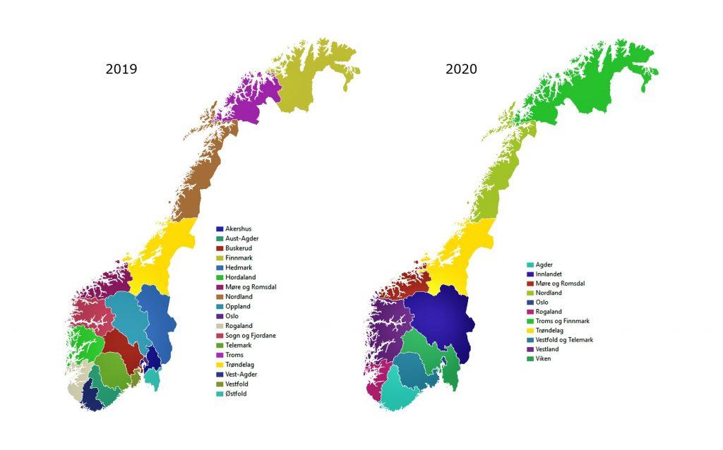 новая карта Норвегии в блоге Uniktur